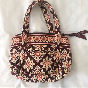 Vera Bradley Bitty Betsy Satchel In Medallion